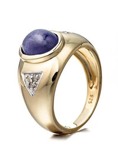 Goldancé - Bague femme - plaqués or en argent sterling 925/1000 - pierres précieuses: Tanzanite env. 2.39ct. - R8133TANWD_SS/14K