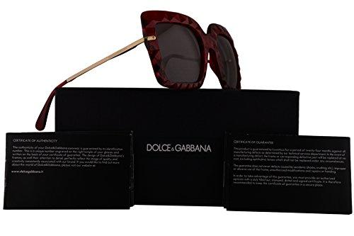 Dolce & Gabbana DG6111 Sunglasses Crystal Red w/Purple Brown Lens 51mm 31477N DG - Gomez Selena Sunglasses Red