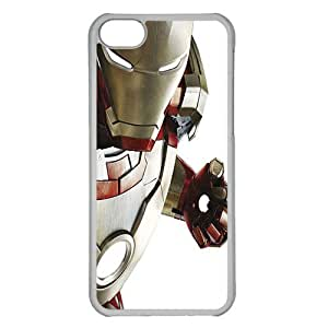 iPhone 5C case ,fashion durable Transparent side design phone case, pc material phone cover ,with Iron man .