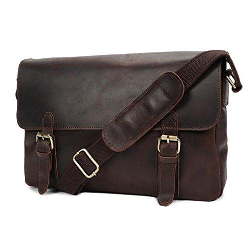 resistente borsa e SHOUTIBAO tracolla necessità indossabile a tracolla in da uomo Borsa quotidiane vintage pelle a PCwpfq