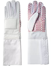 Pro-Style Dual Layer Padded Fencing Glove - Washable Fencing Glove w/Anti-Slip Coating, Internal Seams - Approved for FIE Competitions