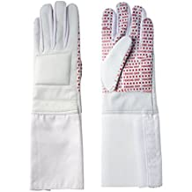 Pro-Style Dual Layer Padded Fencing Glove - Washable Fencing Glove w/ Anti-Slip Coating, Internal Seams - Approved for FIE Competitions