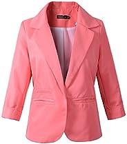 Beninos 3/4 Sleeve Women's Boyfriend Blazer Tailored Suit Jacket Sport