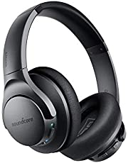 Anker Soundcore Life Q20 Bluetooth Headphones, Hybrid Active Noise Canceling, 40H Playtime, Hi-Res Audio, Deep Bass, Memory Foam Ear Cups and Headband, Wireless Over Ear Headphones for Travel, Work