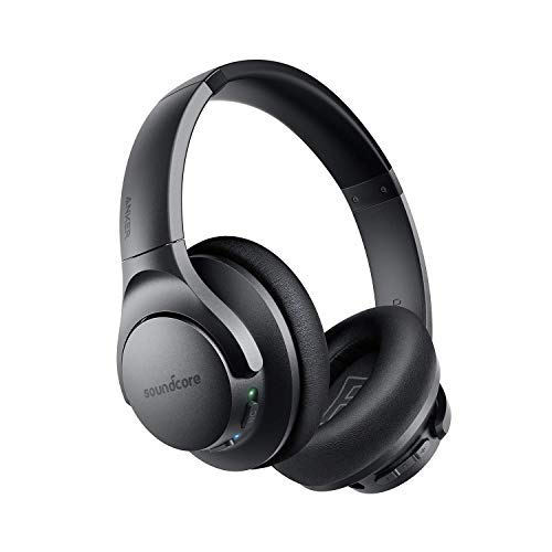 Anker Soundcore Life Q20 Bluetooth Headphones, Hybrid Active Noise Cancelling, 30H Playtime, Hi-Res Audio, Deep Bass, Memory Foam Ear Cups and Headband, Wireless Over Ear Headphones for Travel, Work by Soundcore