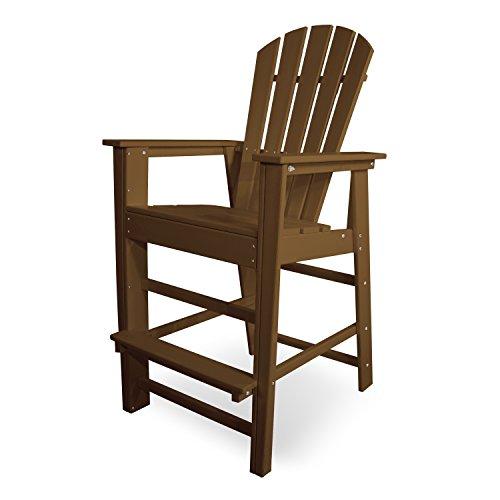 - POLYWOOD SBD30TE South Beach Bar Chair, Teak