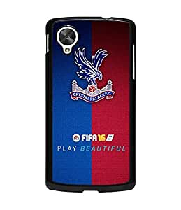 Crystal Palace FC Googel Nexue 5 Funda Case Famous Football Team Simple Logo Pattern Personalized Classy Cute Pattern Some Colour Back Cover Special Stylish For Girls