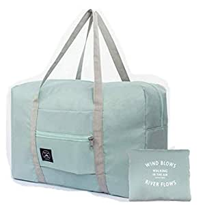Unisex's Spirit Airline Personal Item Carry-on Bag Unisex's Lightweight Fodable Waterproof Duffel Travel Bag Luggage Bag Large Capacity 18''x 14'' x 8'' (Blue)