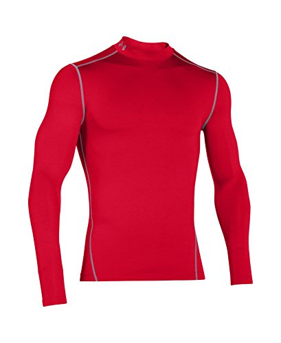 Under Armour Men's ColdGear Armour Compression Mock Long Sleeve Shirt, Red /Steel, XXX-Large by Under Armour (Image #3)