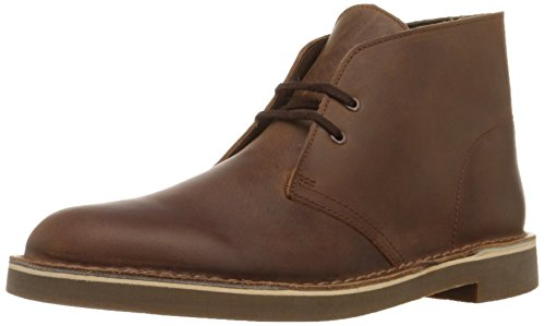 CLARKS Men's Bushacre 2 Chukka Boot,Dark Brown,10.5 M (Suede Eyelet)