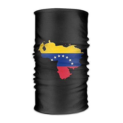 Price comparison product image Flag Map Of Venezuela Headwear For Men And Women-Yoga Sports Travel Workout Wide Headbands, Neck Gaiter, Bandana, Helmet Liner, Balaclava, Hair Turban, Scarf
