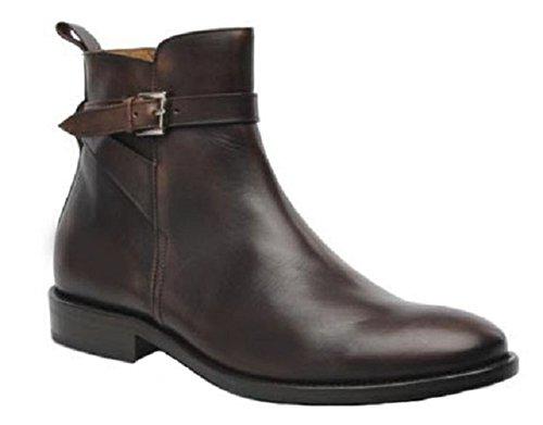 Scarpe Stivali in Pelle Modello Francois da HGilliane Progettazione in 33-46 Nero