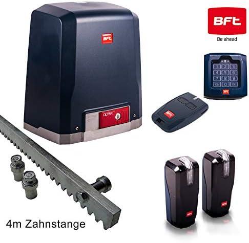 BFT DEIMOS-Ultra-Kit 400 - Sistema de accionamiento para puertas correderas (incluye candado, emisor manual, armario de luz, barra de 4 m y luz intermitente de advertencia): Amazon.es: Bricolaje y herramientas