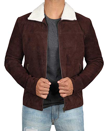 (Decrum Brown Suede Leather Jacket - Swedish B2 Bomber Jacket | Rick, XS)