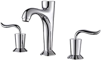 "Kraus FUS-13803CH Coda Widespread 2-Handle Bathroom Faucet, 8"", Chrome"