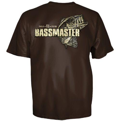 Club Red Bassmaster Patch Master Brown Short Sleeve Mens T Shirt  1438  Small
