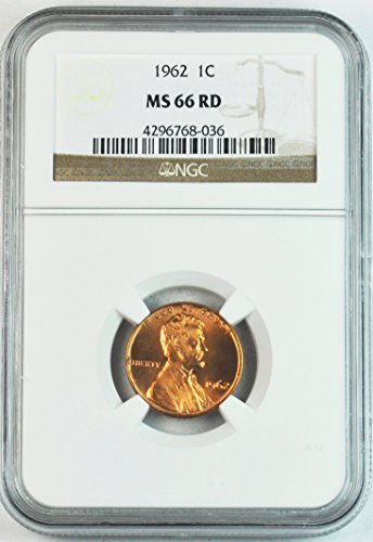 1962 P Lincoln Memorial Cent Rare Brilliant Uncirculated Penny MS66 NGC RD