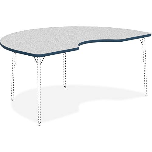 - Lorell 99924 Classroom Kidney Shaped Activity Tabletop Table Top, Gray Nebula,High Pressure Laminate (HPL),Navy