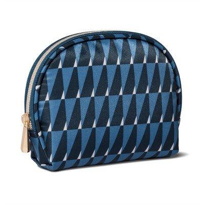 Sonia Kashuk153; Cosmetic Bag Round Top Modern Geo Blue