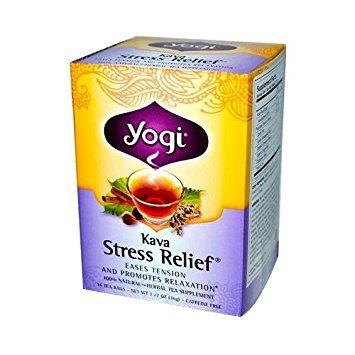Yogi Tea Kava Stress Relief - Caffeine Free - 16 Tea Bags (Root Jamaican Sarsaparilla)