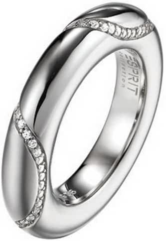 ESPRIT Women's Peribess Wave Ring 925 Sterling Silver