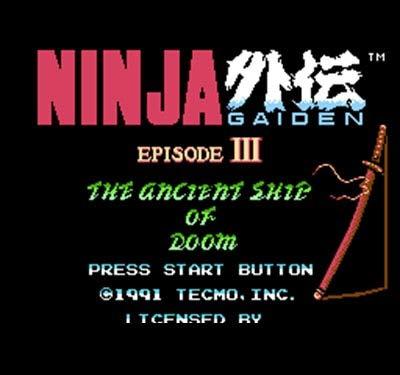 The Crowd Tradensen Video Game Card Ninja Gaiden 3 60 Pins 8 Bit Game Card