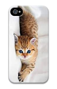 cover cool adorable Cute Little kitty PC Case for iphone 4/4S