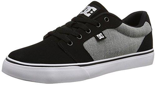 DC Mens Anvil NB Skate Shoe, Negro/Blanco/Negro, 38 D(M) EU/5 D(M) UK