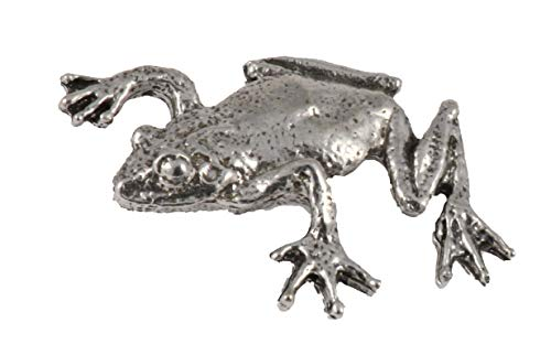 Tree Frog Amphibian Climbing Pewter Lapel Pin, Brooch, Jewelry, A062