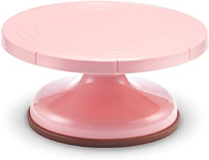AWYGHJ 10 Inch Rotating Cake Turntable, Plastic Revolving Cake Stand, Turns Smoothly Cake Decorating Display Stand, for Homemade Cookies Cupcake