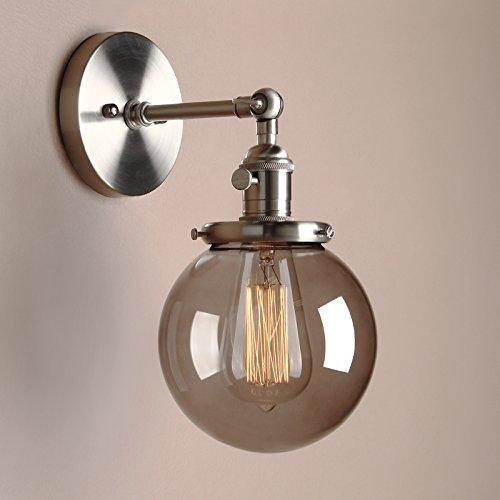 Smoked Glass Globe Pendant Light