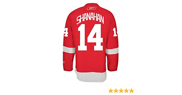 c97255a2f Detroit Red Wings VINTAGE Brendan SHANAHAN  14  A  Official Home Reebok NHL  Hockey