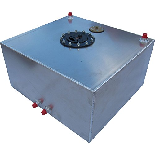 Cells Aluminum Fuel Rci - RCI 2151AS Aluminum Fuel Cell with Sending Unit, Natural Aluminum Color, 15 Gallon, 18L x 20W x 10H