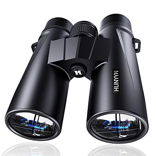 HUNYYN 12x42 Potentes prismáticos HD para adultos, niños, binoculares para observación de aves, viajes, caza, deportes al aire libre, juegos, conciertos, prisma BAK4