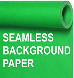 Seamless Photo Background Paper Roll Chroma Key Green, 53 Inches Wide x 36 Feet Long - This Product is NOT Returnable