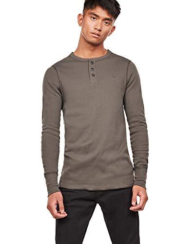 Longues shirt T star Gris Slim Korpaz Homme Grandad Manches À G qg7xOwzO