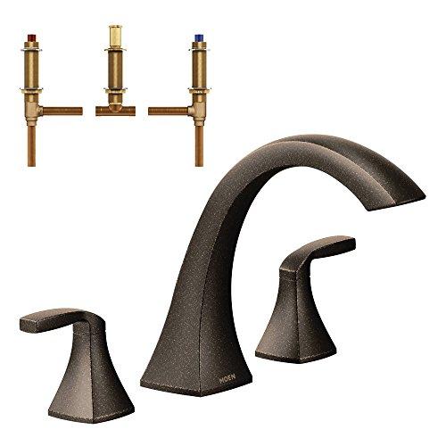 Moen KRTVO-D-T693ORB Voss 8-1/4-Inch Roman Tub Faucet, Oil Rubbed Bronze by Moen