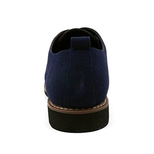 Oxford Gamuza Zapatos Hombres Casual Oxfords OtoñO Primavera Cuero Hombres Moda Zapatos Azul zq55O1w