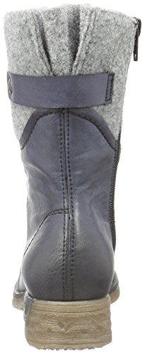 Rieker 79604 Stivaletti Mezze Tasche Donna Blu (oceano / Granito / 14)