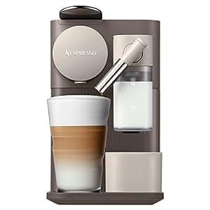 DeLonghi Nespresso Lattissima One, Capsule Coffee Machine, EN500BW, Brown/ White