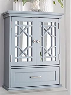 Merveilleux Bathroom Wall Cabinet Organizer   Double Door, Gray