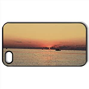 Sunset Watercolor style Cover iPhone 4 and 4S Case (Beach Watercolor style Cover iPhone 4 and 4S Case)