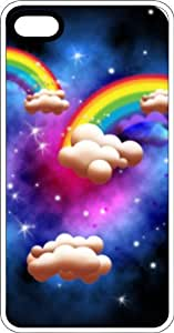 Magic Rainbow Clouds White Rubber Case for Apple iPhone 4 or iPhone 4s