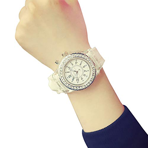 LED Couple Glowing Geneva Watch Backlight Sport Waterproof Quartz Wrist Watches Relogio Feminino Gift for Men Unisex Girls