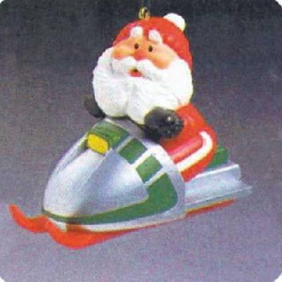 Snowmobile Santa 1984 Hallmark Ornament QX4314 - Santa Mobile