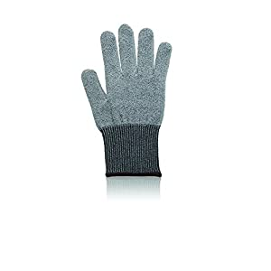 Microplane Cut Resistant Glove Keep Hands Safe in The Kitchen, One Size, Silver