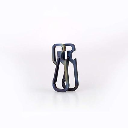 2Pcs titanio mosquetón multifunción D anillo de bloqueo clip ...