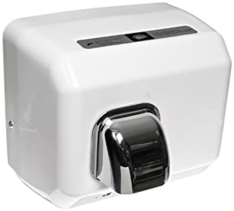 """Impact 4070T Touchless Hand Dryer, 120V/15A, 11"""" Length x 9"""" Width x 9"""" Height, White"""