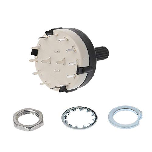 Ants-Store - 2 Pole 6 Way / 3 Pole 4 Way Rotary Switch - Good Quality - 1st CLASS POST ()