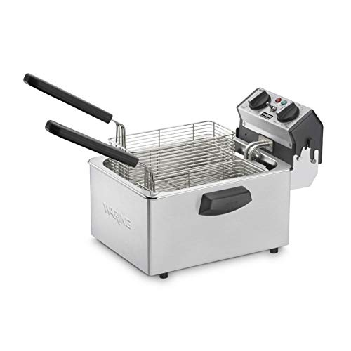 Waring Commercial WDF75B 208-volt Countertop Compact Electric Deep Fryer, 8.5-Pound